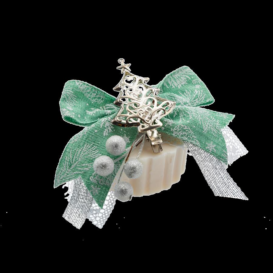 Sapone-decorato-verde-e-argento